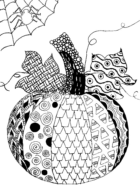 Pumpkin Coloring Pages for Adults - Adult Coloring Page Halloween Pumpkin Halloween 5