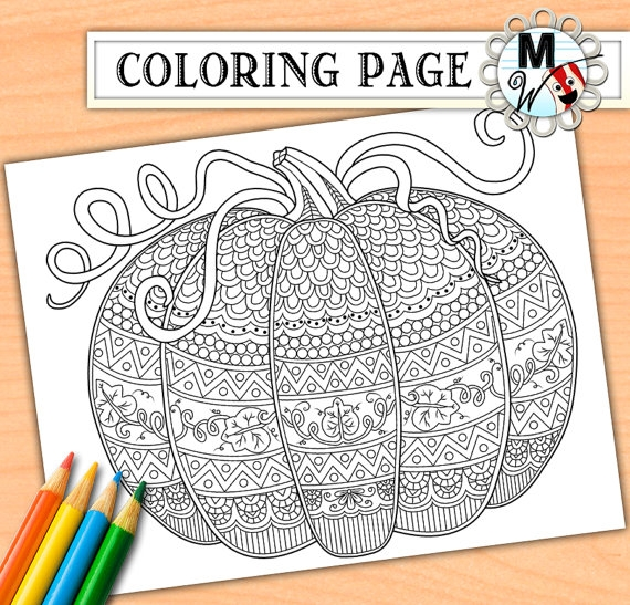 pumpkin coloring pages for adults - pumpkin coloring page for adults zen