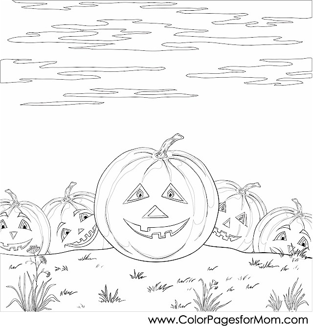 Pumpkin Patch Coloring Pages - Advanced Coloring Pages Halloween Pumpkin Patch Coloring Page