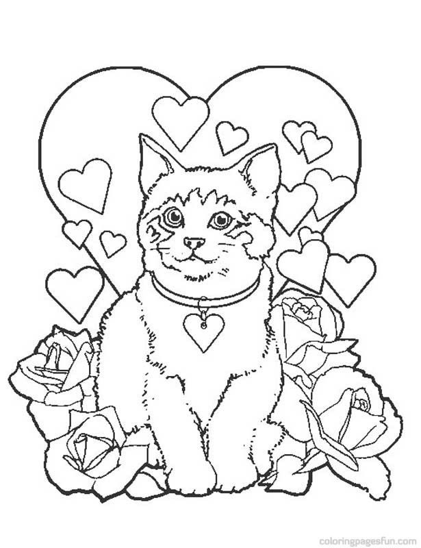 Puppy and kitten coloring pages coloring pages puppies and kittens