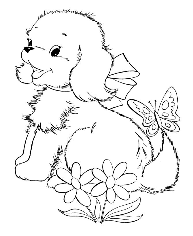 Puppy and kitten coloring pages coloring pages of puppies and kittens