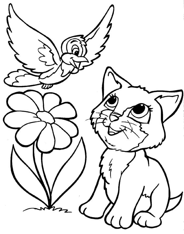 puppy and kitten coloring pages - coloring pages of puppies and kittens
