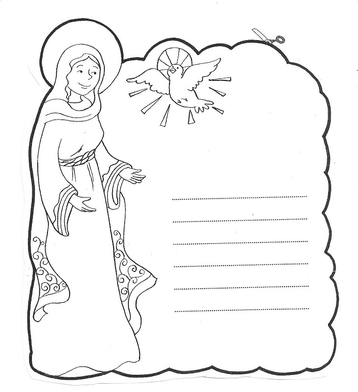 Puppy Coloring Pages - Virgin Mary Coloring