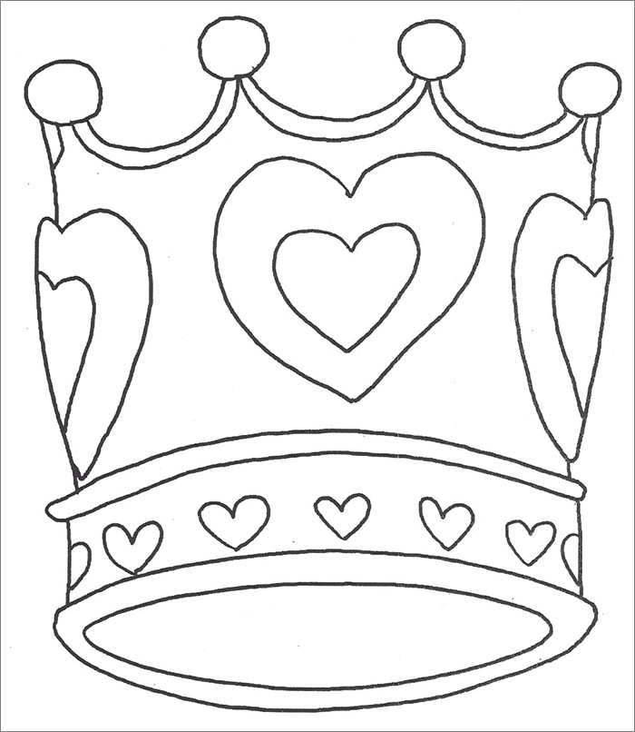 purim coloring pages - crown template
