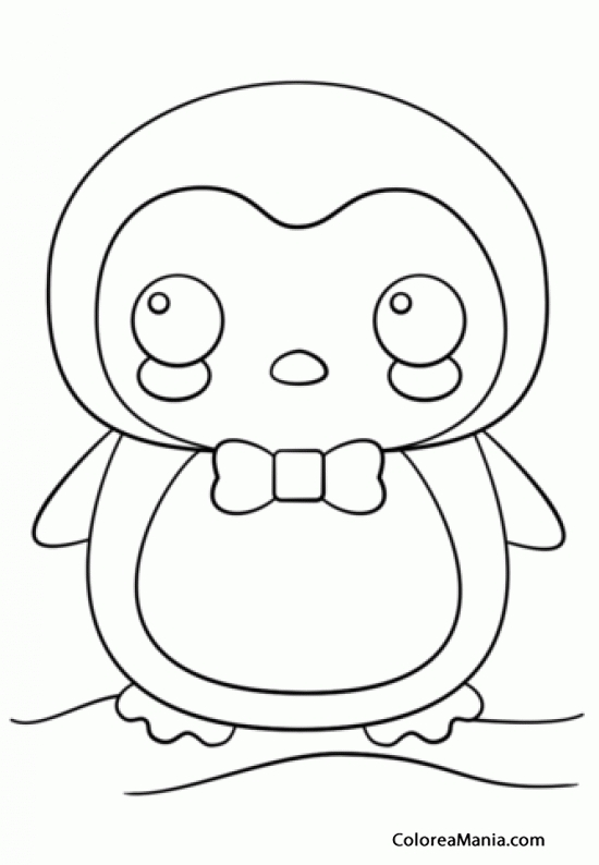 pusheen cat coloring pages - pinguino kawaii