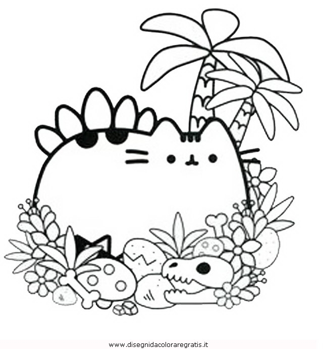 pusheen coloring pages - disegno pusheen 24