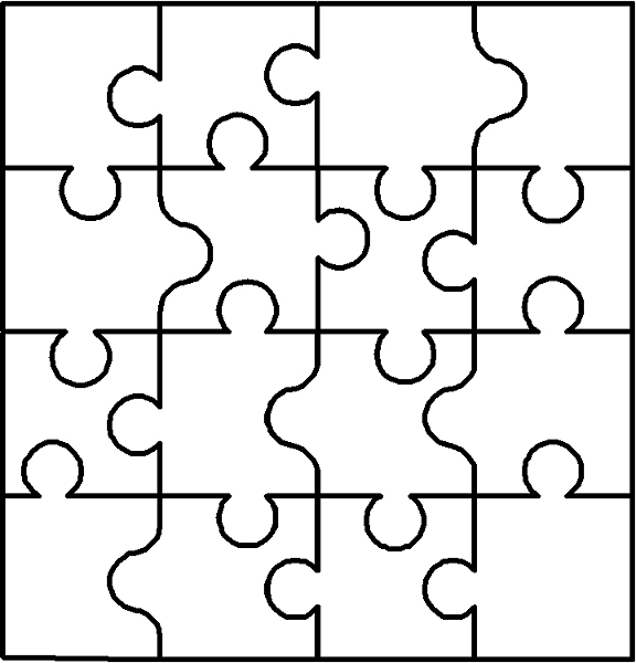 puzzle coloring pages - fun