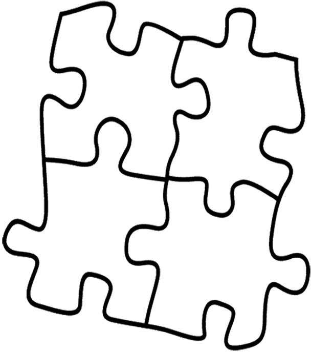 Puzzle Coloring Pages - Puzzle Coloring Pages 9