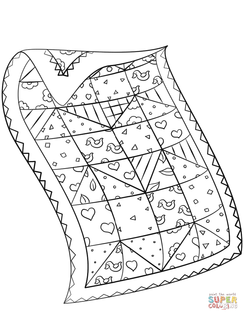 Quilt Coloring Pages - Quilt Coloring Page