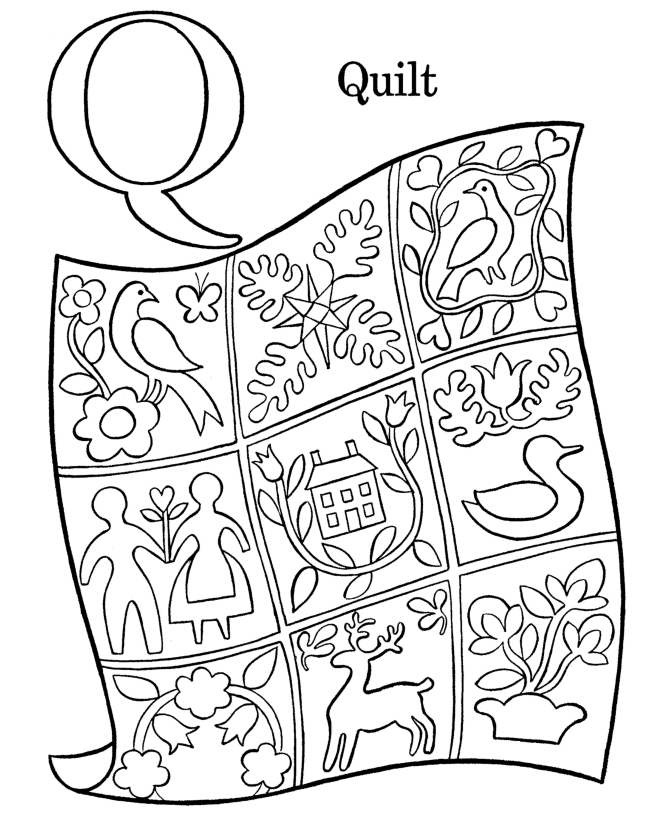 quilt coloring pages - quilt square coloring page