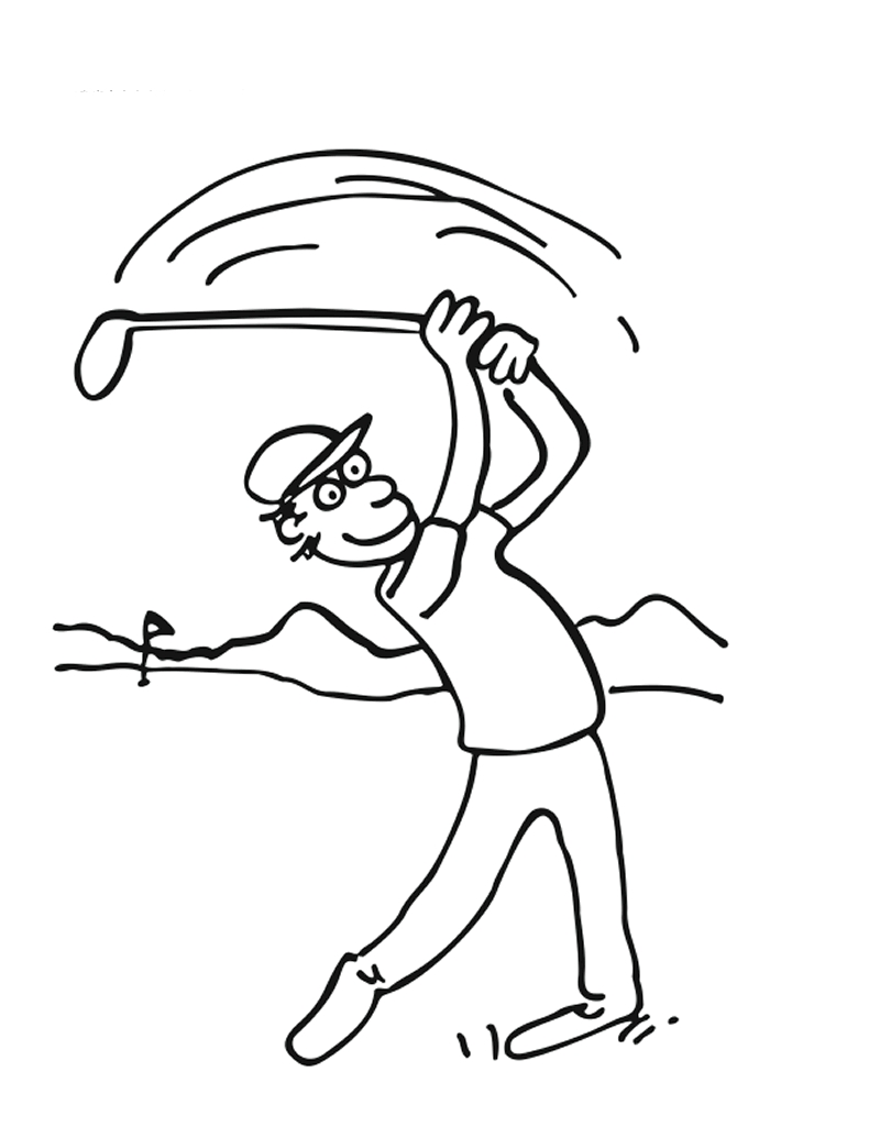 quiver coloring pages - tacada no golfe