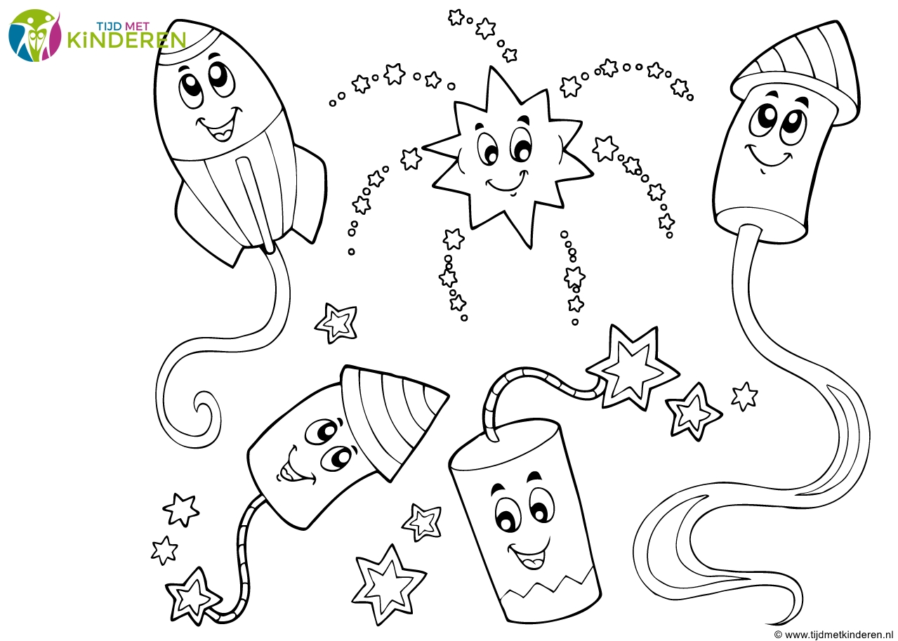 quiver coloring pages - kleurplaat feest