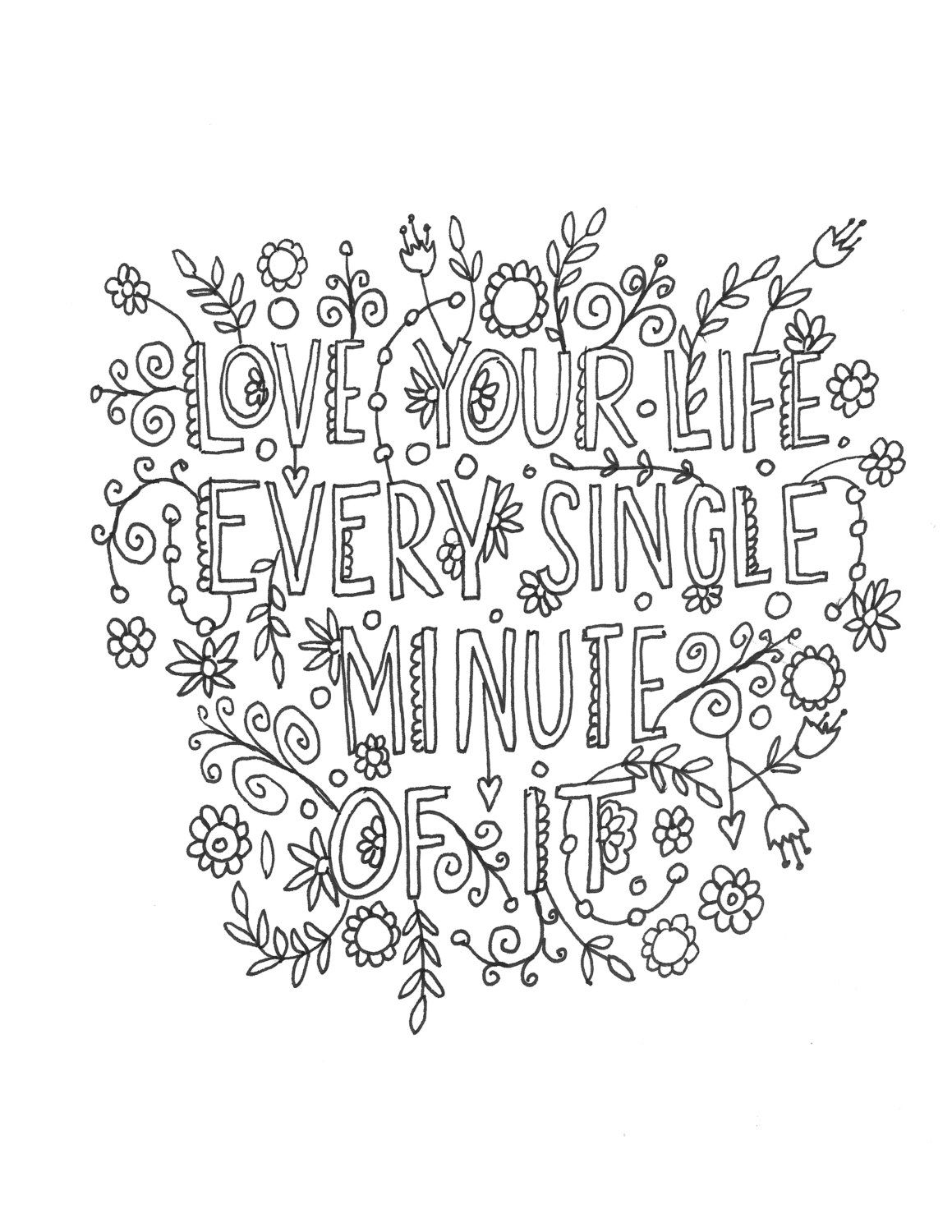 quote coloring pages -