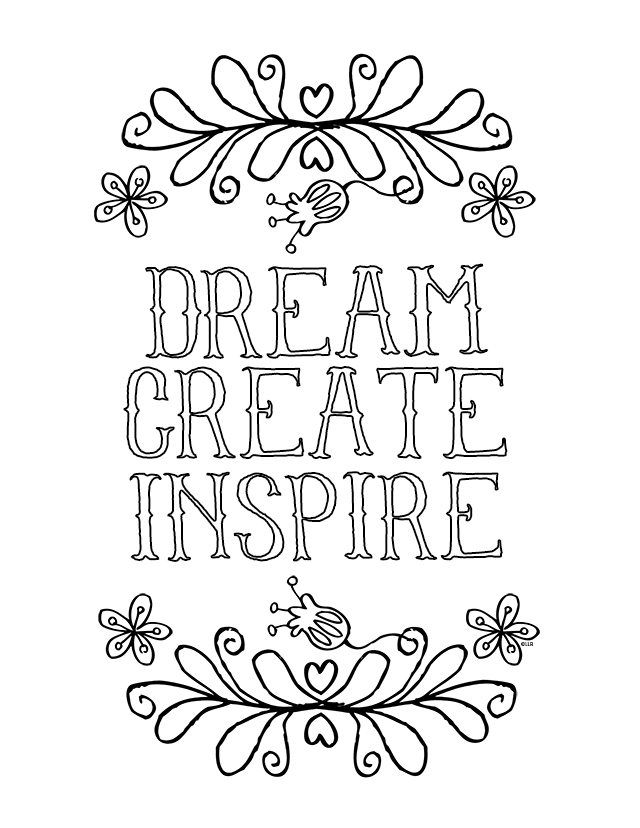 quote coloring pages - inspirational coloring page
