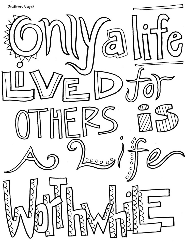 quote coloring pages - printable coloring quotes love