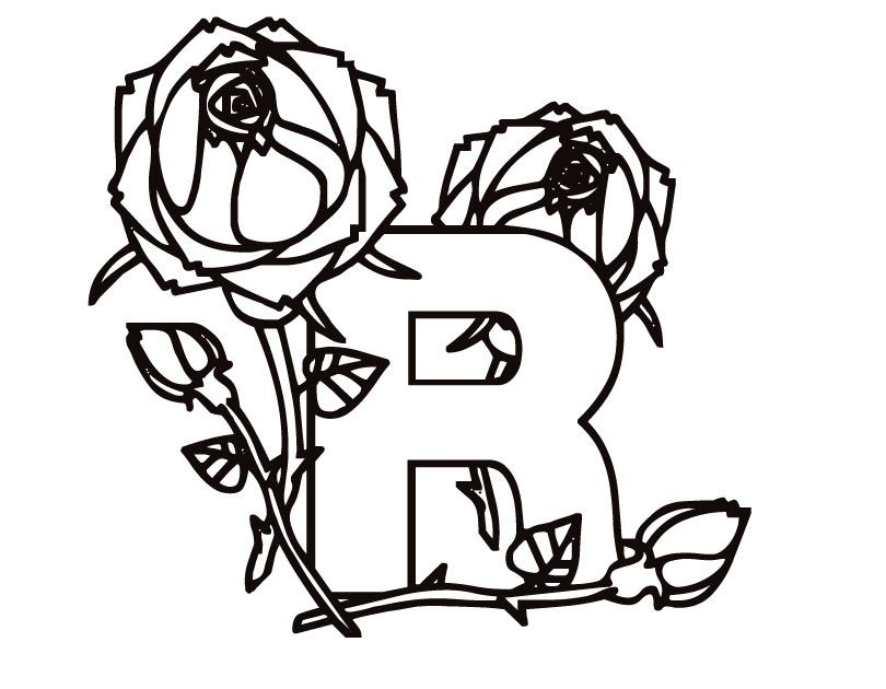r coloring page - letter r coloring page