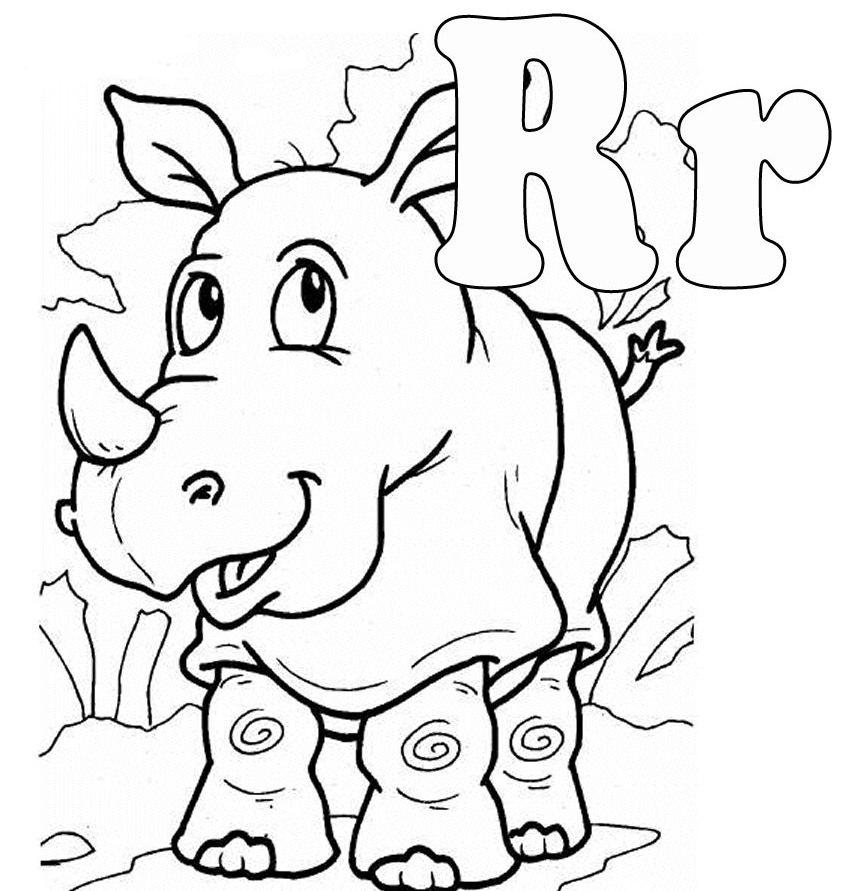 r coloring page - letter r coloring pages