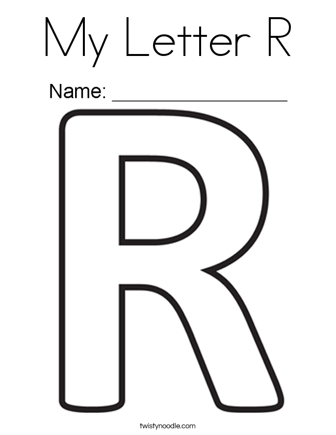 r coloring page - my letter r 2 coloring page