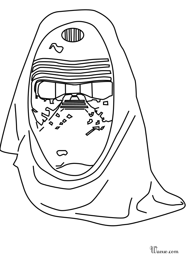 r2d2 coloring pages - coloriage kylo ren star wars