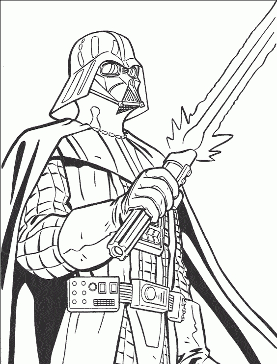 r2d2 coloring pages - darth vader 1