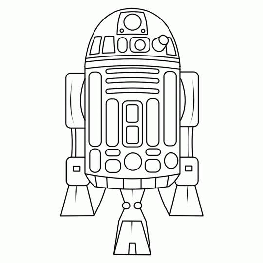 R2d2 Coloring Pages - R2d2 5 Ausmalbilder Star Wars