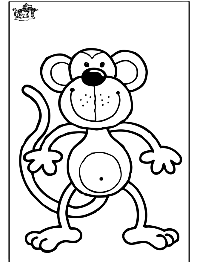 raccoon coloring page - coloring page monkey