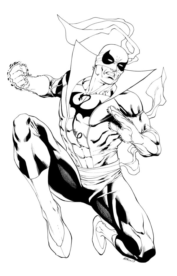 raccoon coloring page - Iron Fist SOTD