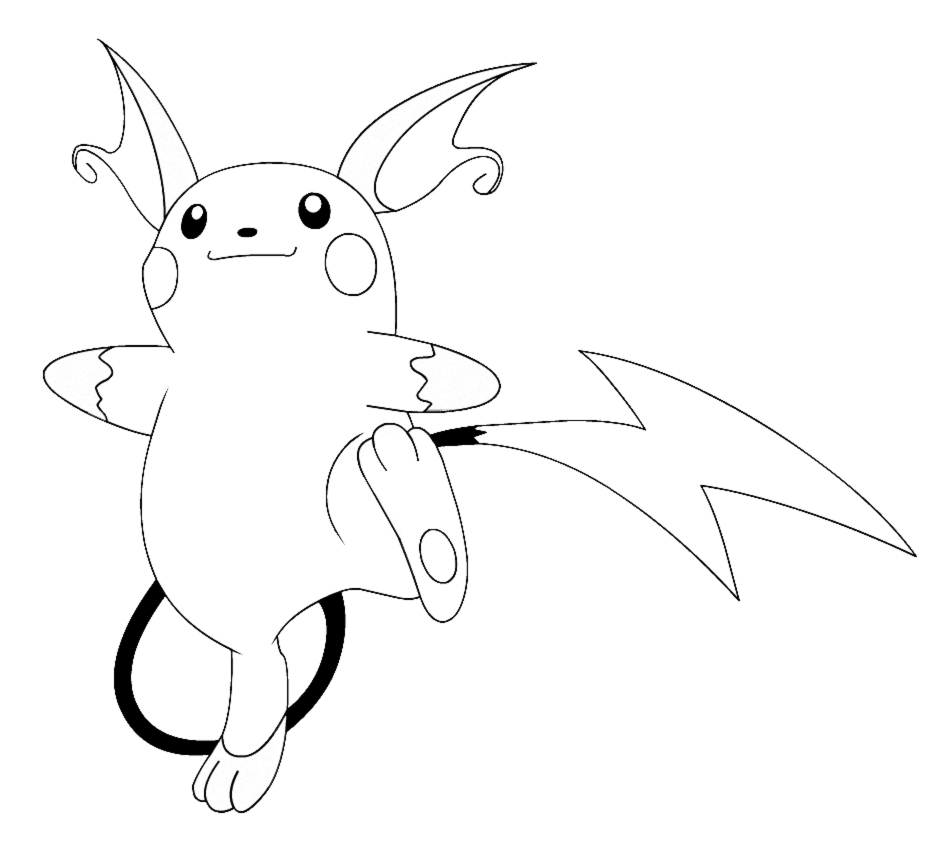 28 Raichu Coloring Page Printable Free Coloring Pages Part 3