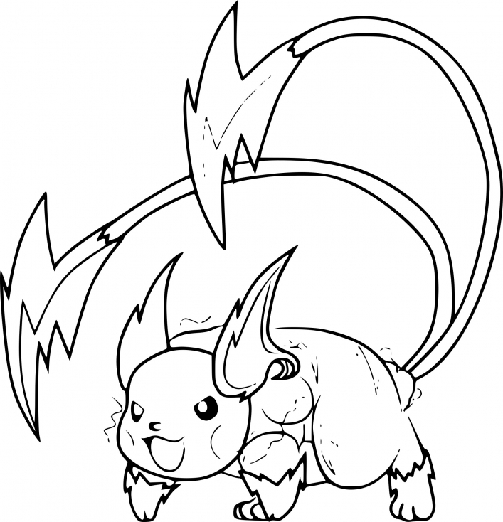 raichu coloring page - mega raichu pokemon pages sketch templates