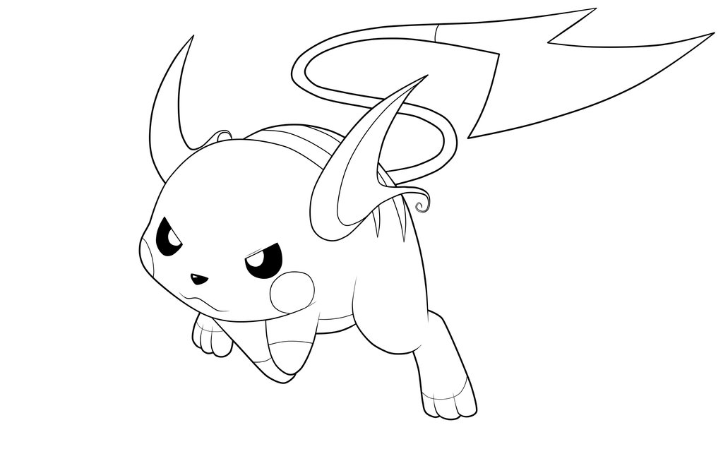 Raichu Coloring Page - Raichu Coloring Pages Az Coloring Pages