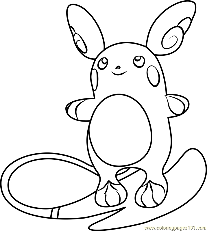 raichu coloring page - raichu coloring pages sketch templates