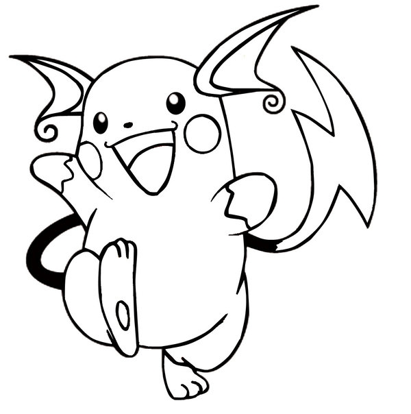 28 Raichu Coloring Page Printable Free Coloring Pages