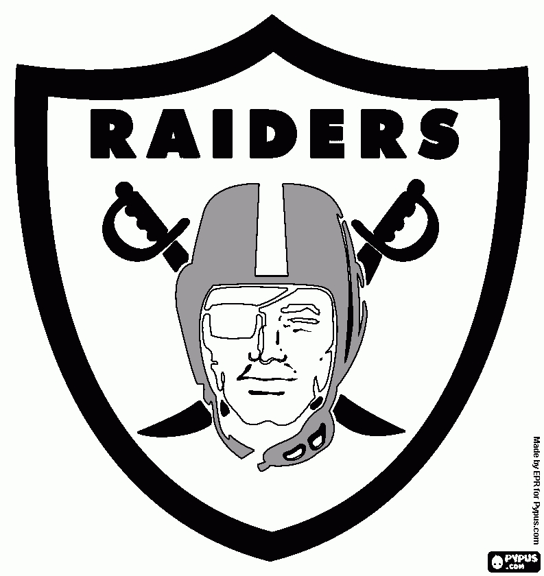 raiders coloring pages - oakland raiders