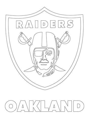 raiders coloring pages - oakland raiders logo