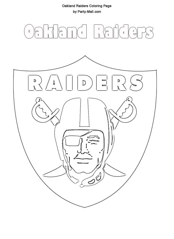 raiders coloring pages -
