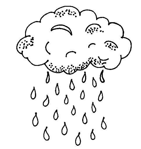 Rain Coloring Page - Animations A 2 Z Coloring Pages Of Rain