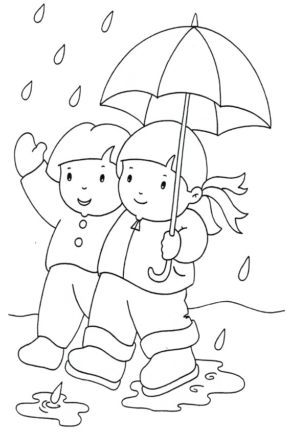 21 Rain Coloring Page Compilation | FREE COLORING PAGES - Part 3