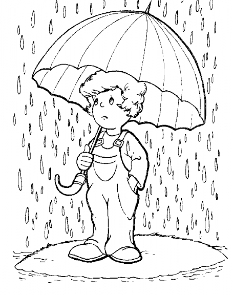 rain coloring page - coloring pages rain