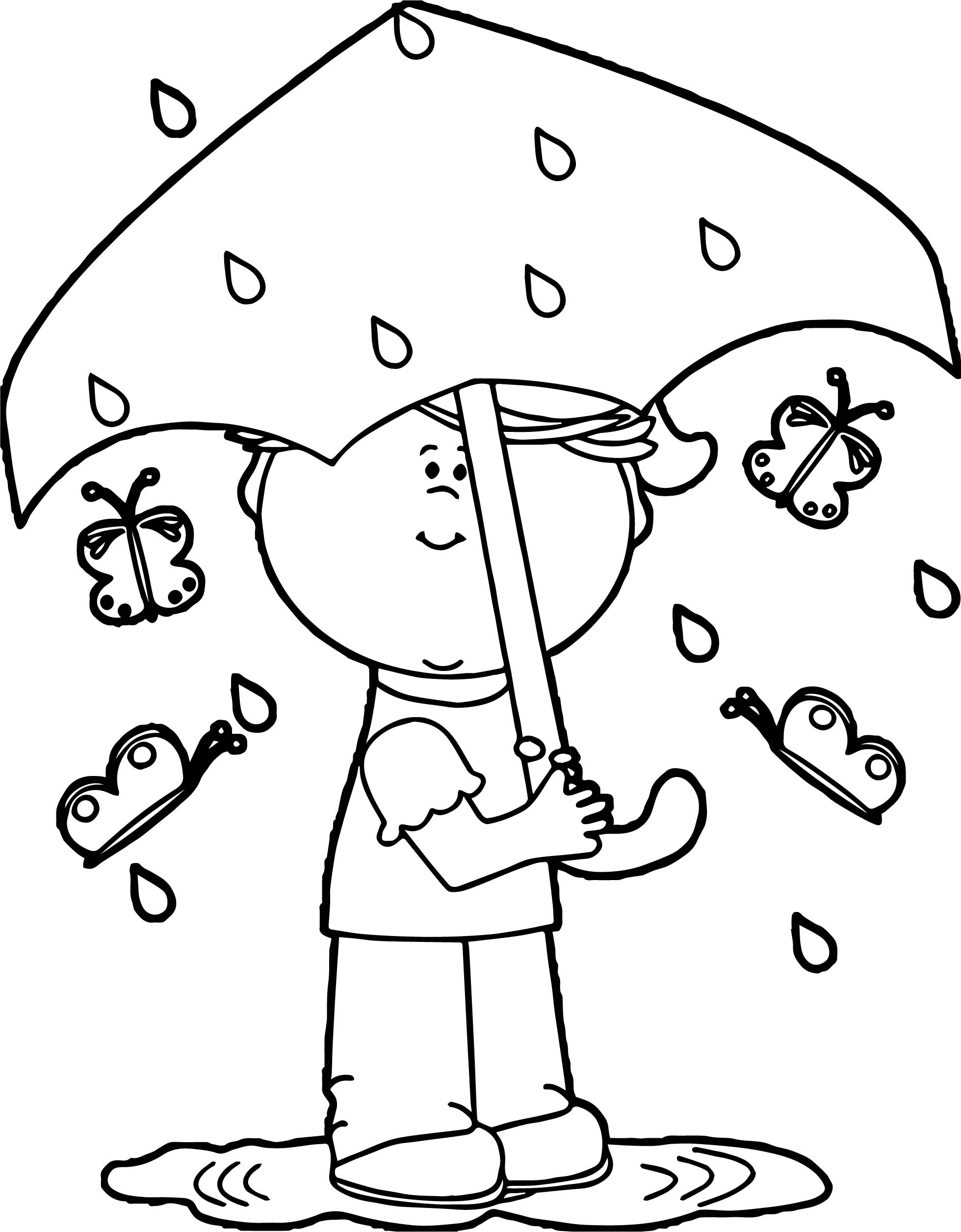 rain coloring page - rain falling coloring pages sketch templates