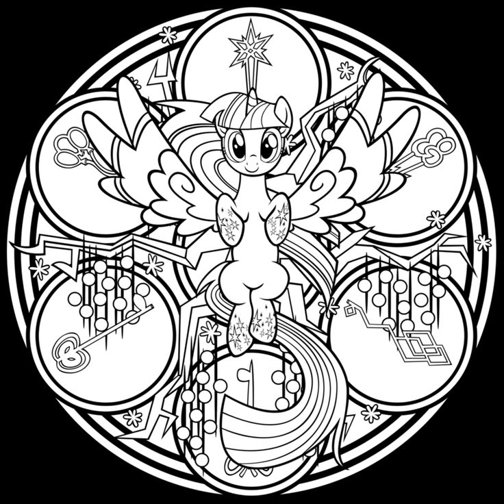 rainbow coloring page - coloriage my little pony
