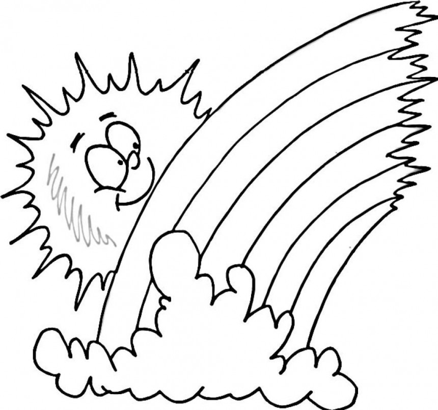 rainbow coloring page - cartoon pictures of rainbows