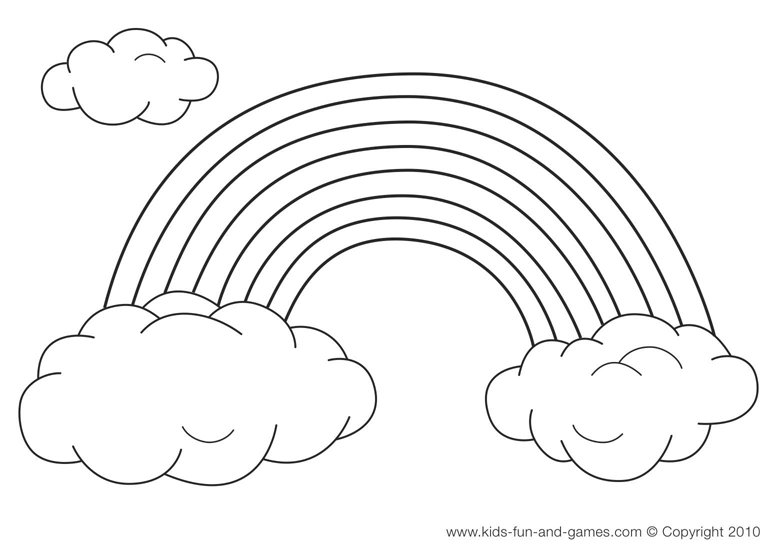 Rainbow Coloring Pages Printable - Rainbow Coloring Pages