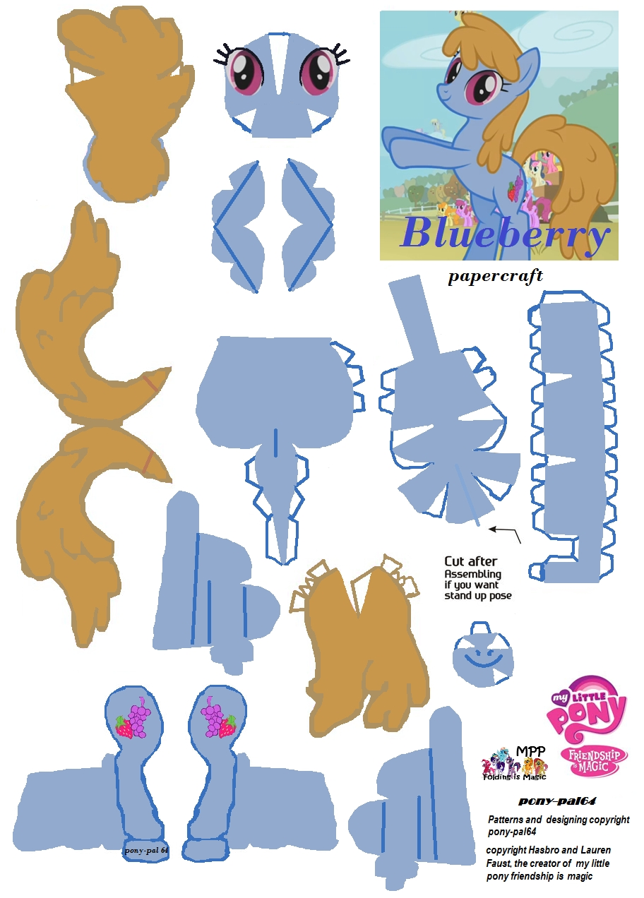 rainbow dash coloring pages - Blueberry papercraft