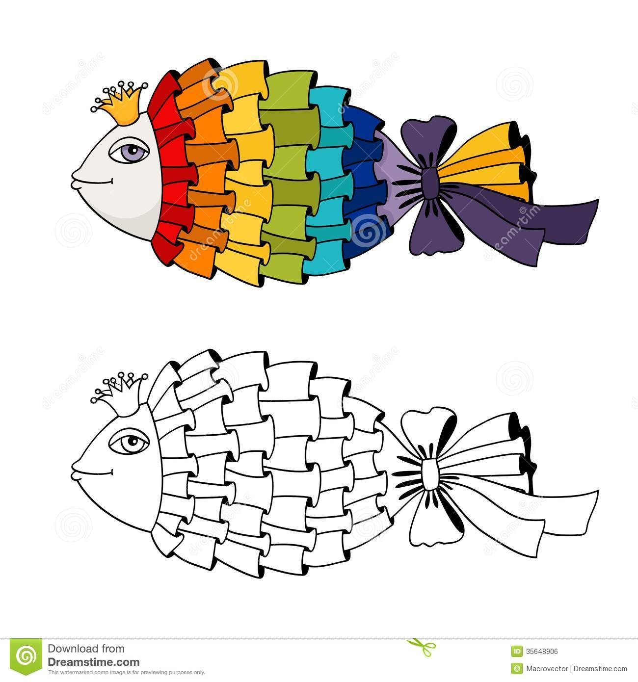 Rainbow Fish Coloring Page - Rainbow Fish Coloring Royalty Free Stock Image Image