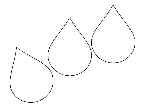 raindrop coloring page - rain drops coloring pages