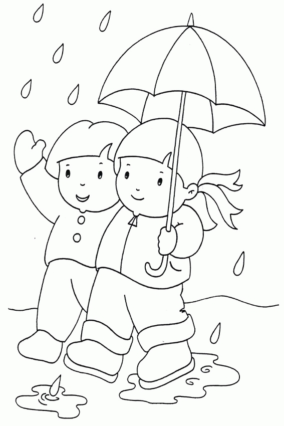 Rainy Day Coloring Pages - Coloring Pages for Rain Coloring Home