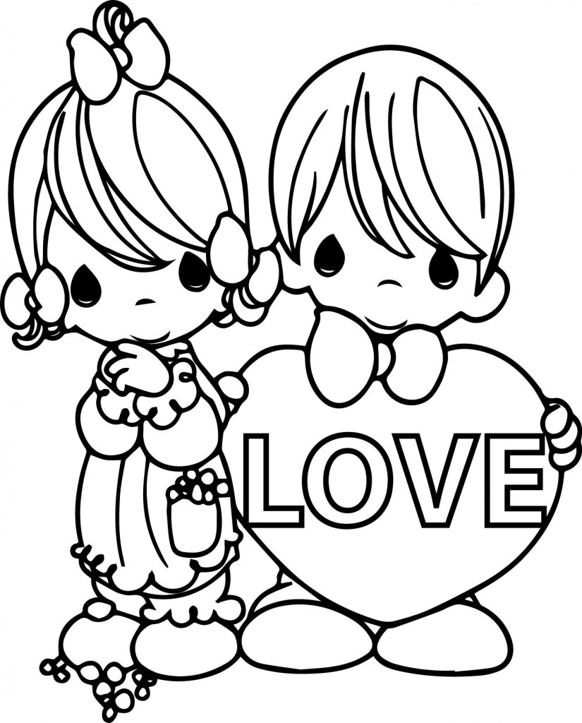 rainy day coloring pages - precious moments valentine coloring pages