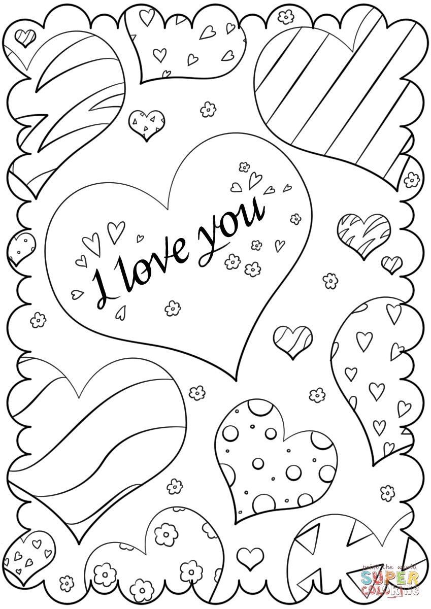 rainy day coloring pages - printable coloring valentine cards