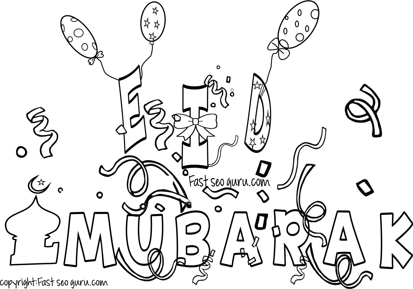 Amazing Ramadan Coloring Pages For Kids Islamic With Lantern Page