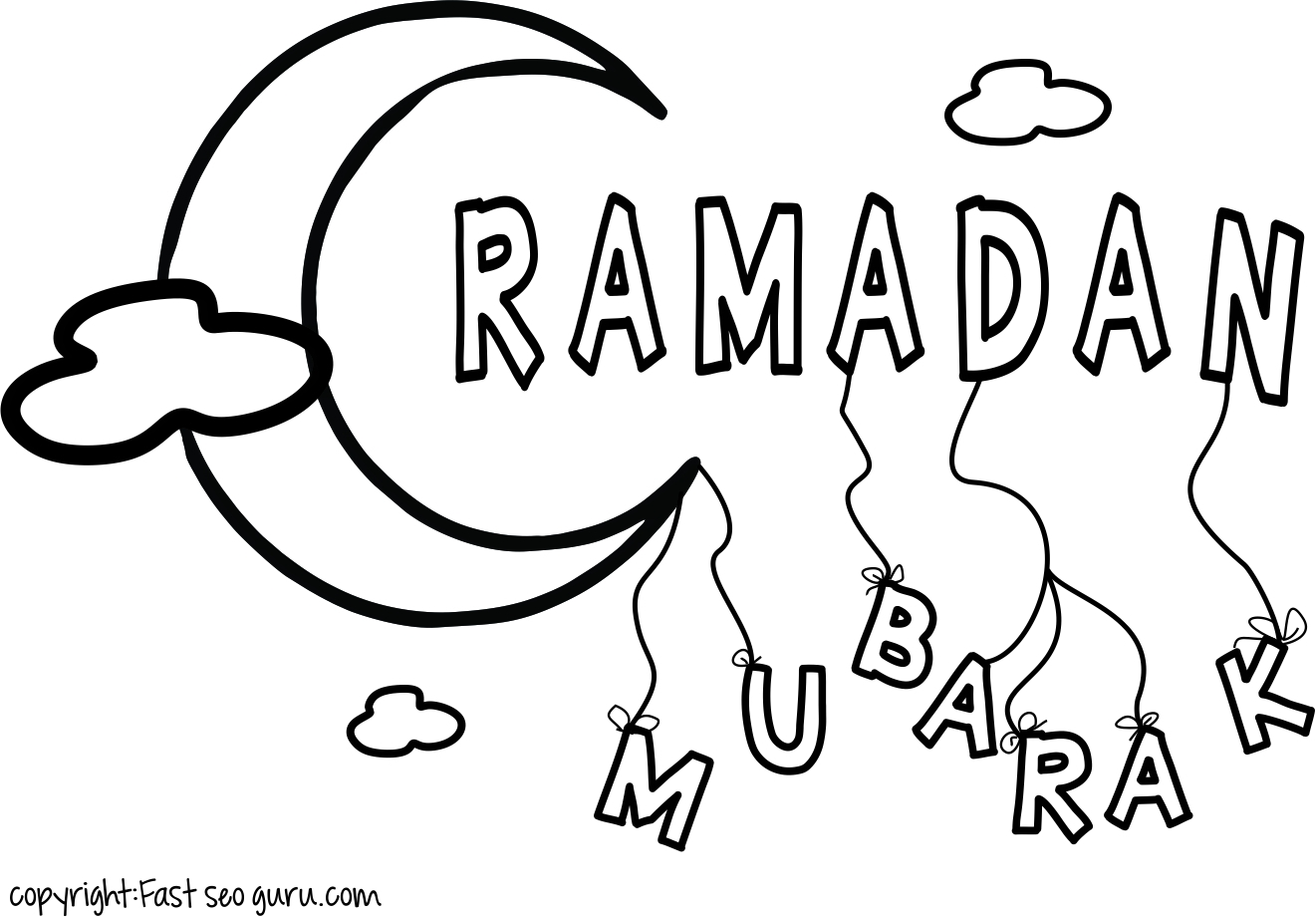 ramadan coloring pages - printable ramadan mubarak coloring pages for kids